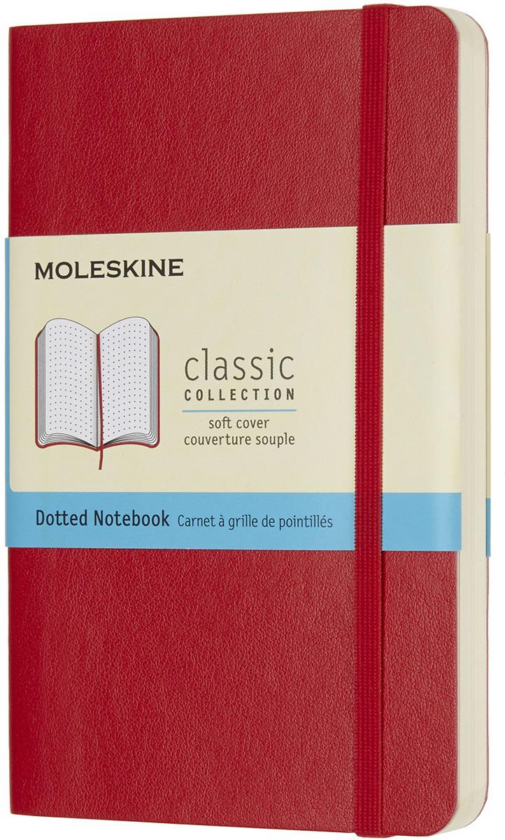 Moleskine Блокнот Classic Soft Pocket 9 x 14 см 96 листов в точку цвет красный