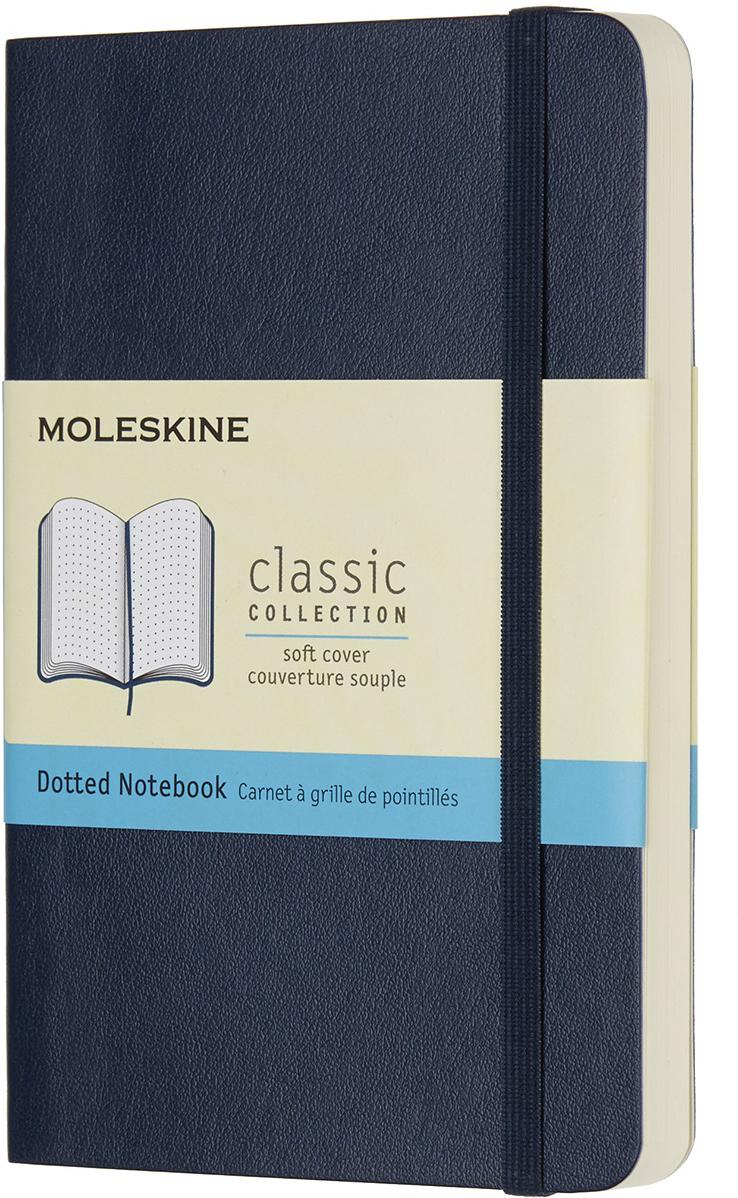 Moleskine Блокнот Classic Soft Pocket 9 x 14 см 96 листов в точку цвет темно-синий