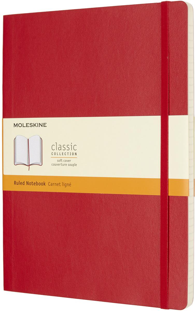 Moleskine Блокнот Classic Soft 19 x 25 см 96 листов в линейку цвет красный