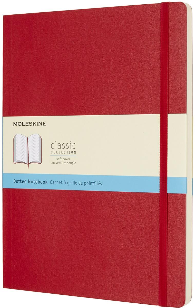 Moleskine Блокнот Classic Soft 19 x 25 см 96 листов в точку цвет красный