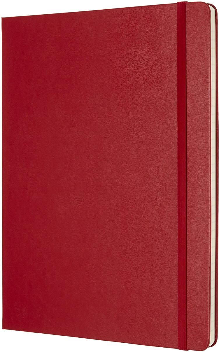 MoleskineБлокнот Classic Xlarge 19 x 25 см 96 листов в линейку цвет красный Moleskine