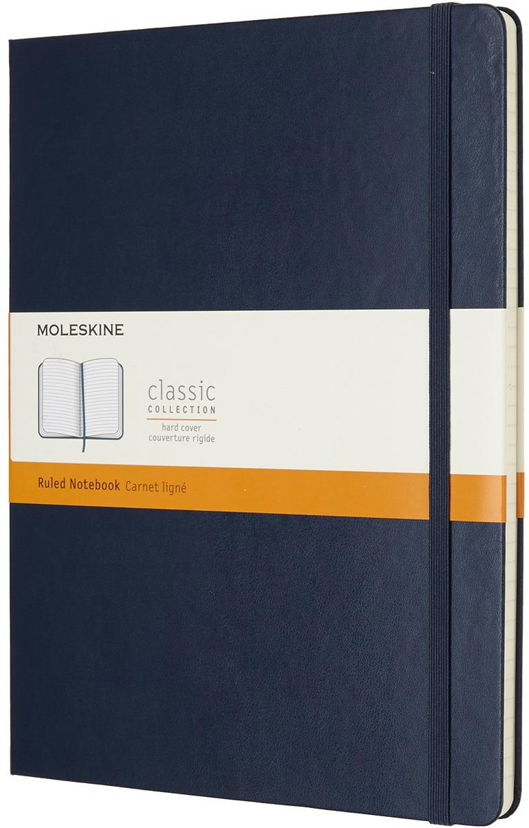 Moleskine Блокнот Classic Xlarge 19 x 25 см 96 листов в линейку цвет темно-синий