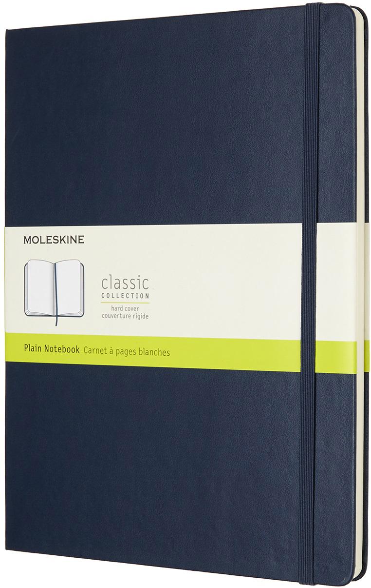 Moleskine Блокнот Classic Xlarge 19 x 25 см 96 листов нелинованный цвет темно-синий
