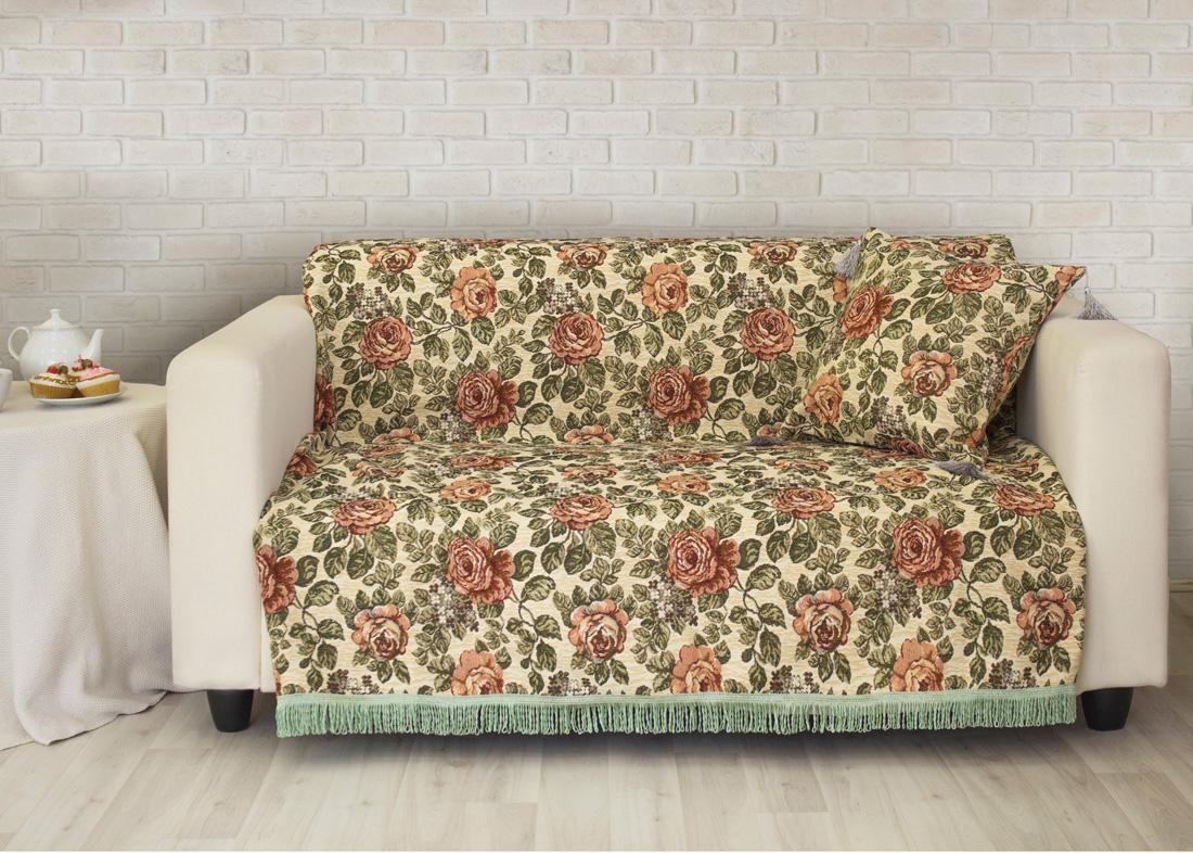 Покрывало на диван Les Gobelins Art Floral, 160 х 230 см покрывало на диван les gobelins mexique 160 х 200 см