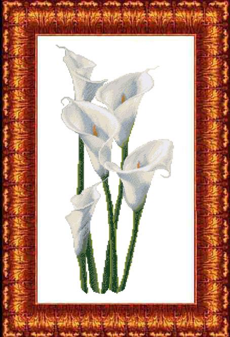 Набор для вышивания крестом Каролинка Каллы, с рисунком, 27 х 57 см рюкзак с крестом