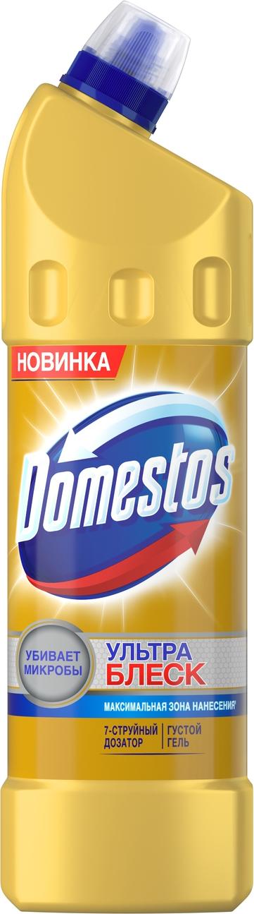 Чистящее средство для унитаза Domestos Ультра блеск, 1 л glorix чистящее средство для пола деликатные поверхности 1л