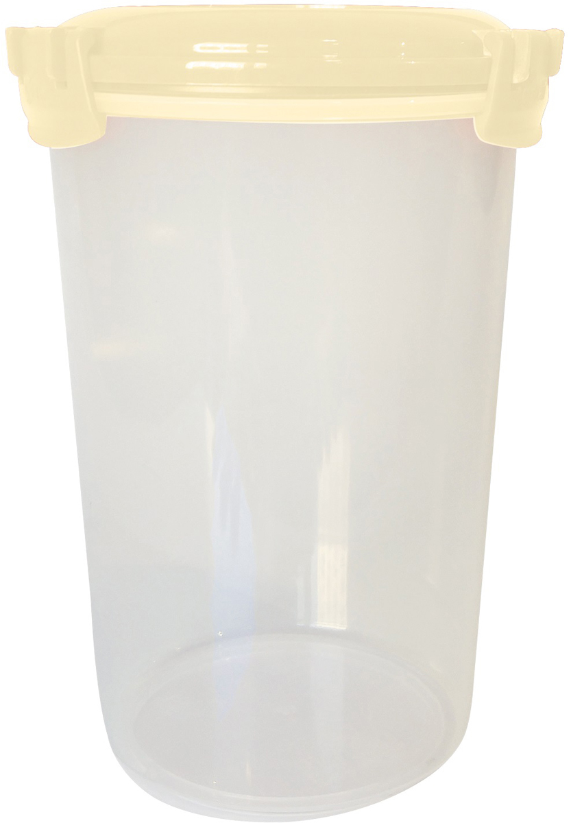 Емкость для продуктов Giaretti Fresco, цвет: сливочный крем, 1,1 л емкость для продуктов giaretti цвет оливковая роща 1 35 л