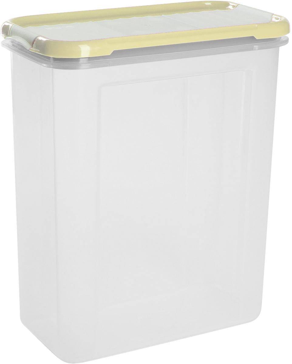 Банка для сыпучих продуктов Giaretti Krupa, с дозатором, цвет: сливочный, 1,5 л банка для сыпучих продуктов giaretti krupa с дозатором цвет оливковый прозрачный 1 5 л