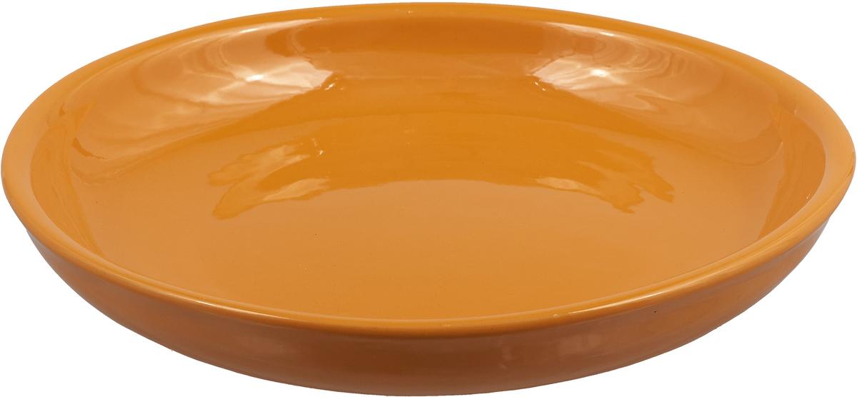 """Миска Борисовская керамика """"Радуга"""", цвет: светло-оранжевый, диаметр 18 см"""