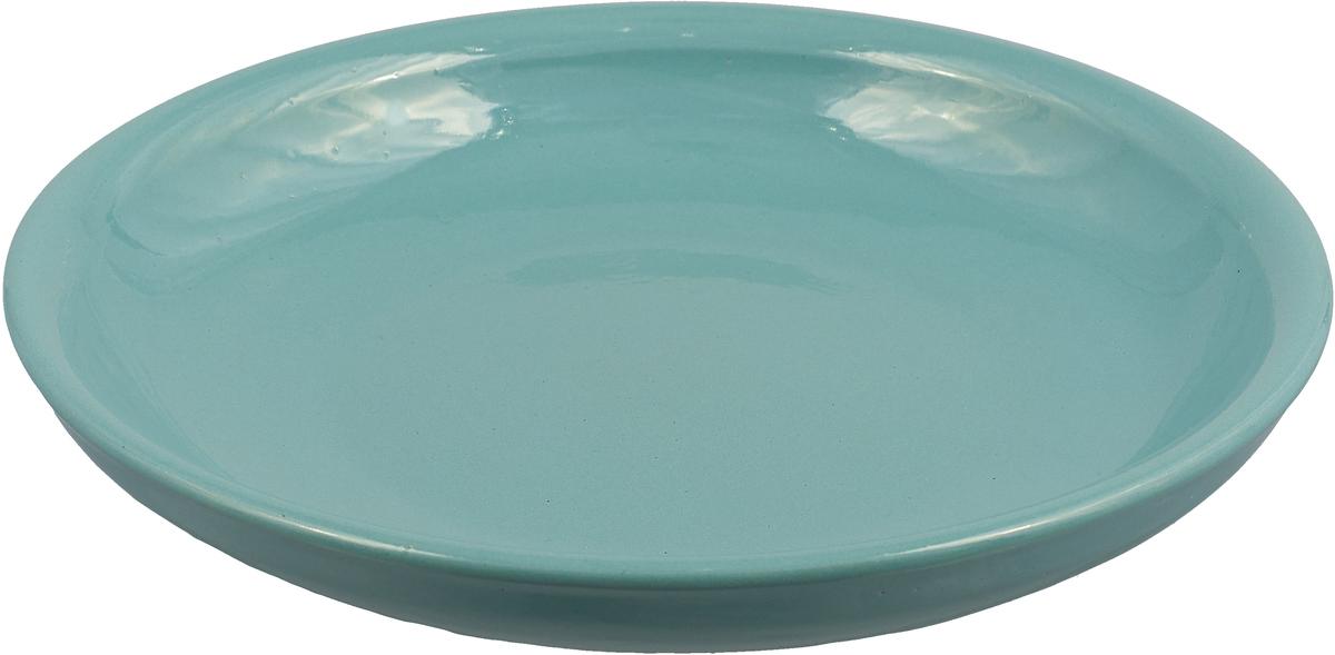 """Тарелка Борисовская керамика """"Радуга"""", цвет: ментоловый, диаметр 18 см"""