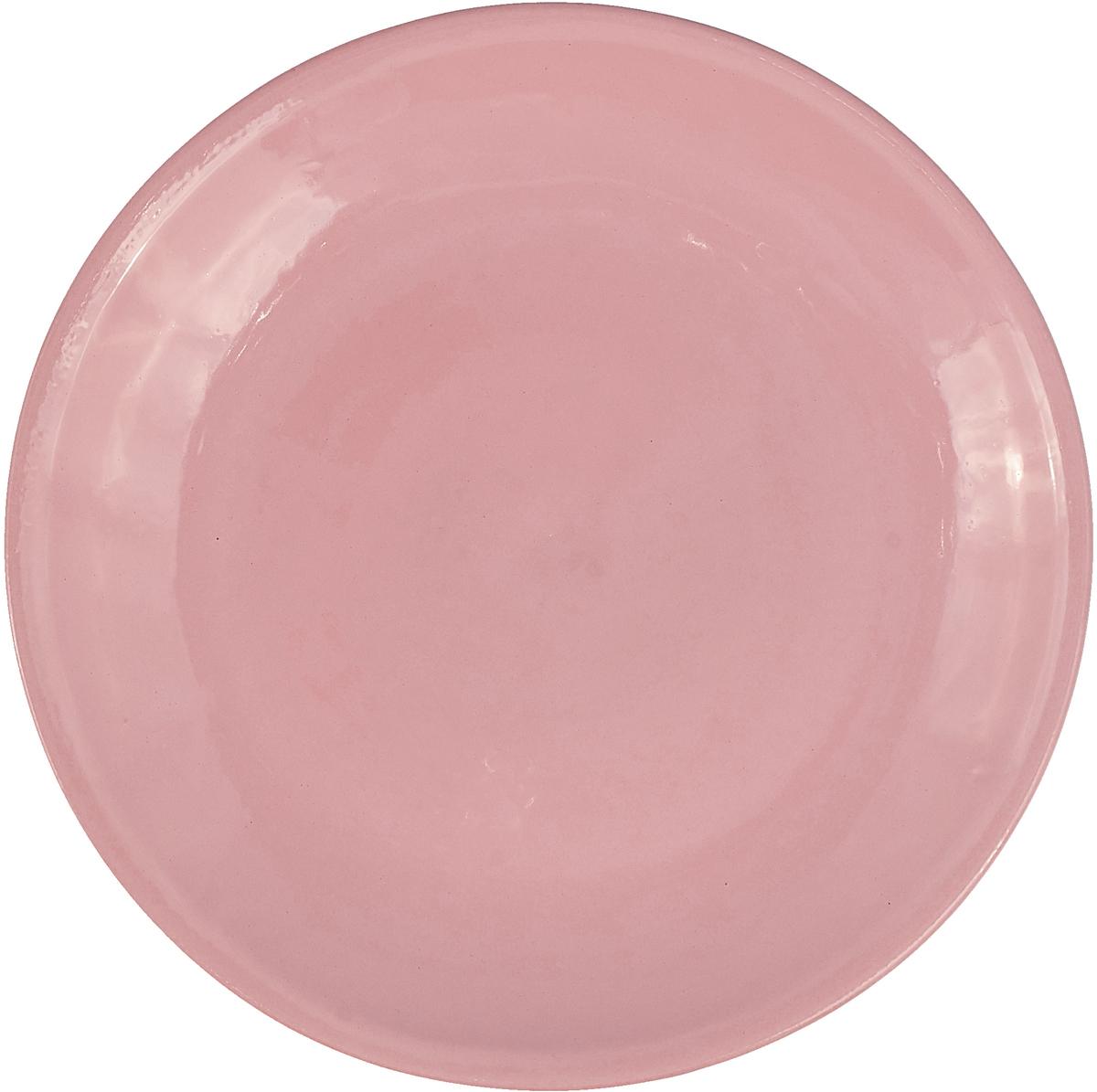 """Тарелка Борисовская керамика """"Радуга"""", цвет: светло-розовый, диаметр 23 см"""