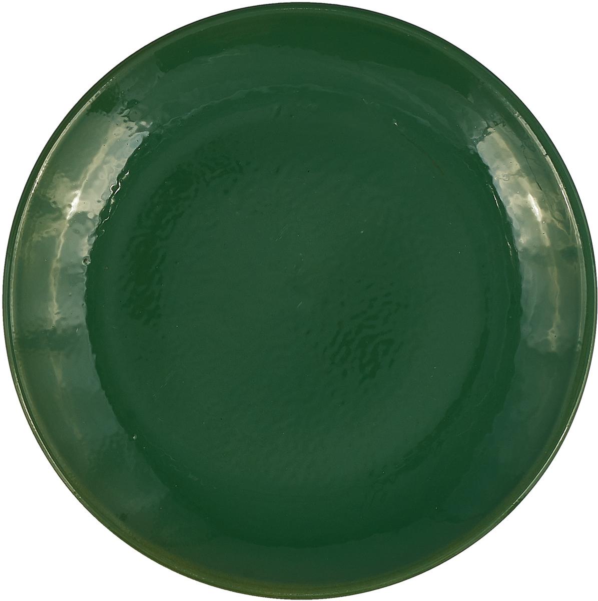 """Тарелка Борисовская керамика """"Радуга"""", цвет: зеленый, диаметр 23 см"""