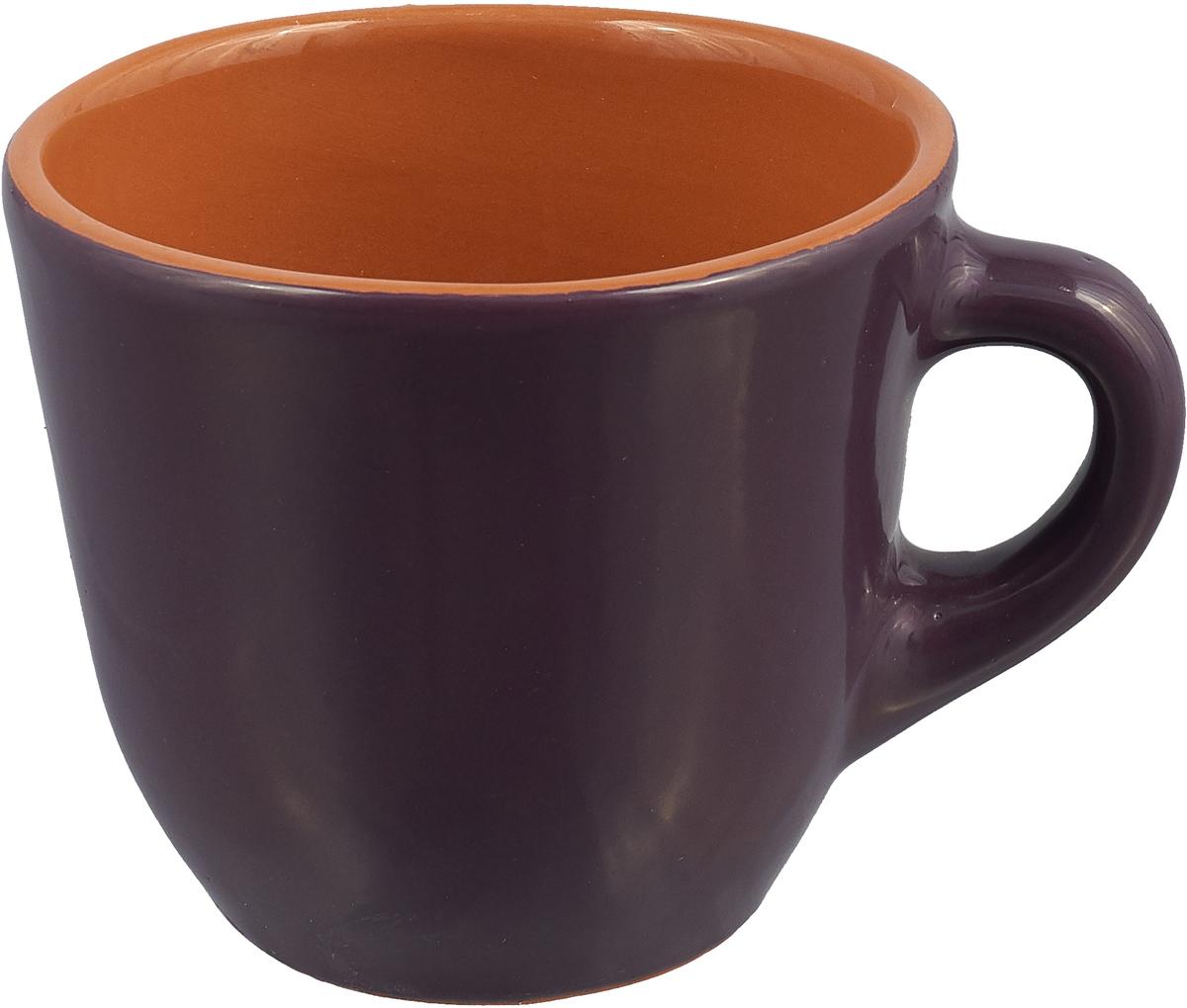 """Чашка чайная Борисовская керамика """"Радуга"""", цвет: сиреневый, 300 мл"""