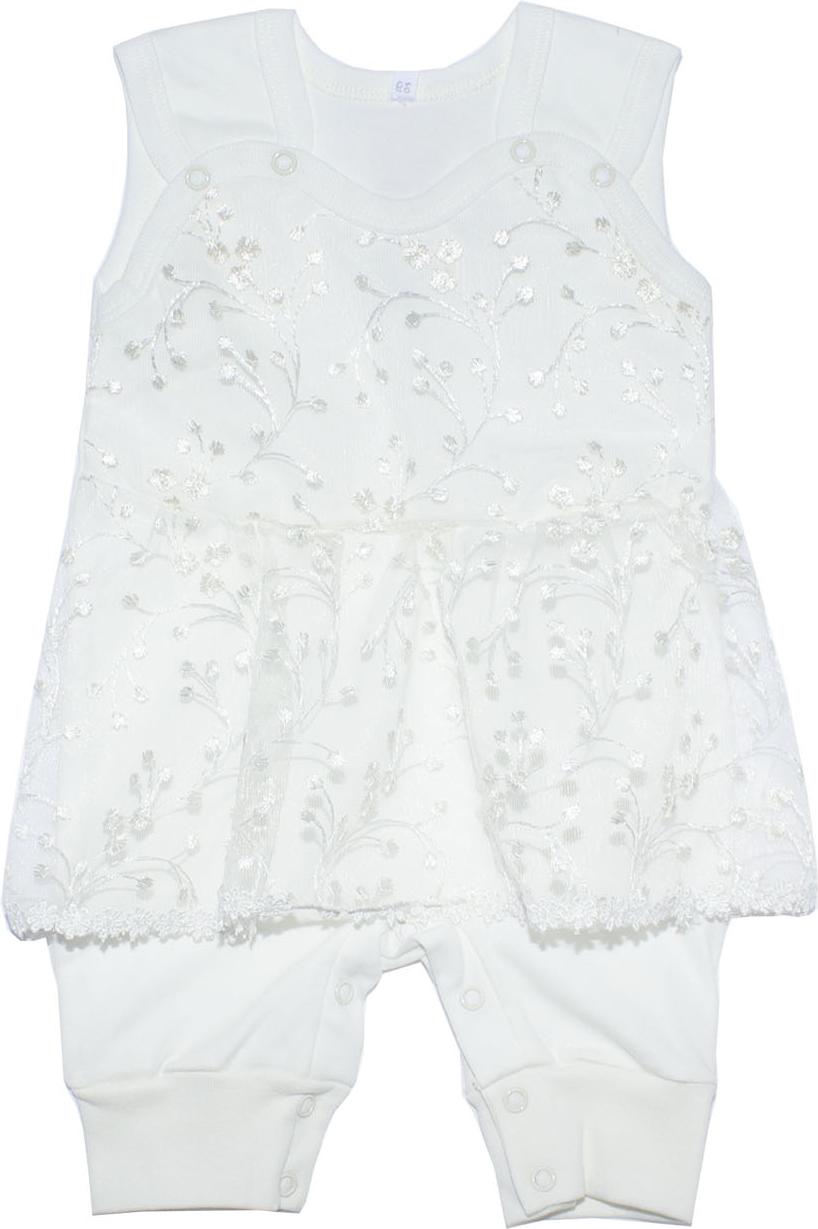 Полукомбинезон Осьминожка комплект одежды для девочки осьминожка дружба цвет молочный розовый т 3122в размер 56