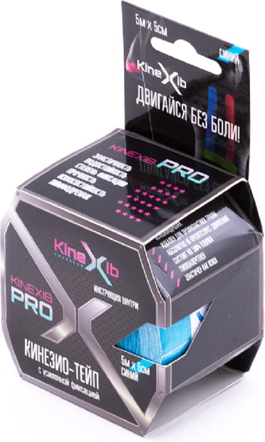 Кинезио-тейп Kinexib Pro, цвет: синий, 5 м х 5 см адгезивный тейп mueller 130106 m tape 5 0 х 13 7 м
