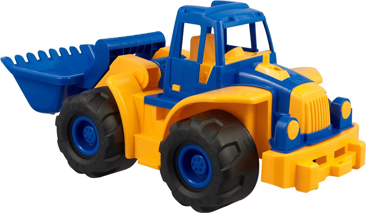Трактор Богатырь с грейдером цвет желтый синий цена