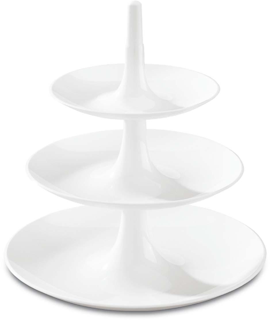 Этажерка Koziol Babell L, цвет: белый3180525Этажерка BABELL успешно справится с сервировкой фруктов, десертов и закусок, не занимая много места на праздничном столе. После использования компактно складывается в обратном порядке.Такая подставка — прекрасный способ эффектной подачи закусок и десертов. Наличие нескольких ярусов позволяют разместить на ней как можно больше продуктов.