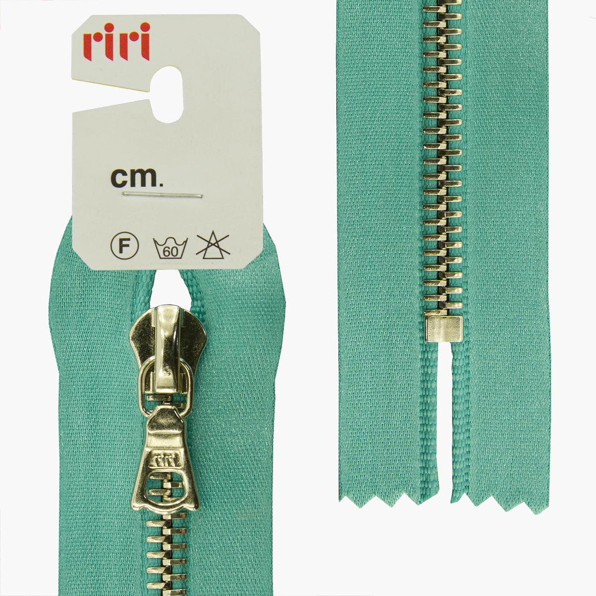 Застежка-молния Riri Ni, неразъемная, на атласной тесьме, цвет: бирюзовый (5859), ширина 6 мм, длина 16 см молния riri ni карманная неразъемная на атласной тесьме цвет синий 9603 16 х 0 6 см