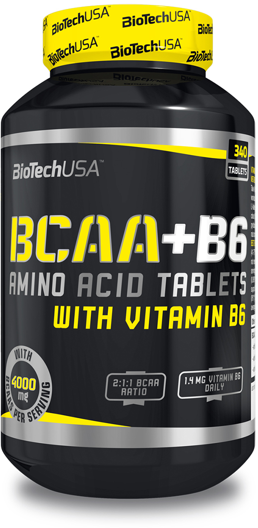 БЦАА BioTech USA BCAA+B6, 340 таблеток аминокислоты академия т bcaa 6000 спортамин 90 таблеток