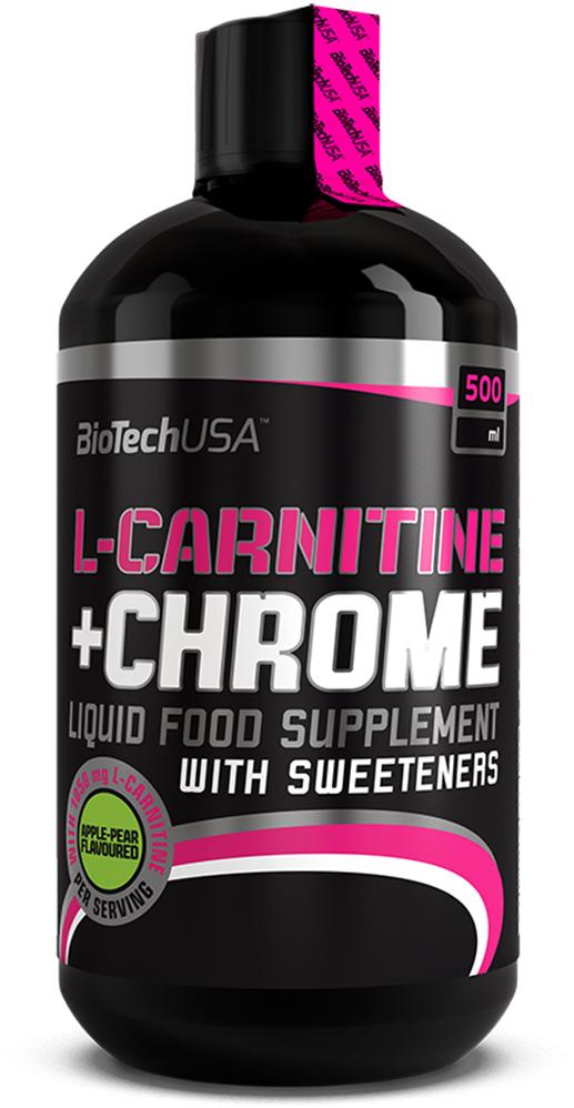 L-карнитин BioTech USA L-Carnitine+Chrome, груша-яблоко, 500 мл цена