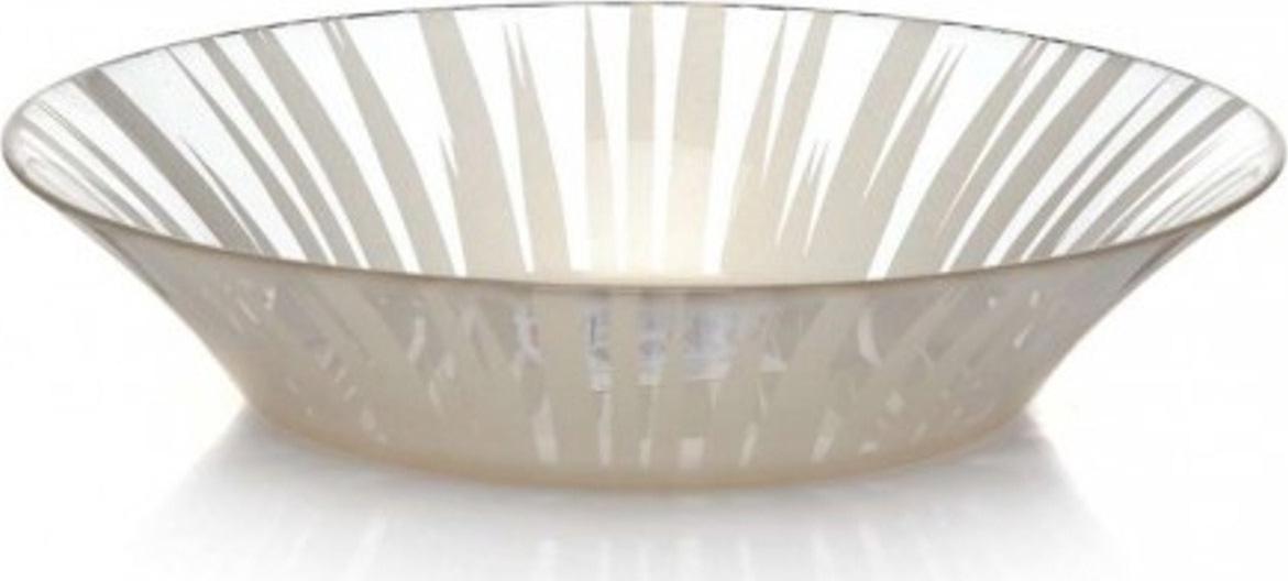 Тарелка глубокая Pasabahce Charm. Солнце , цвет: бежевый, диаметр 22 см имидж мастер зеркало для парикмахерской галери ii двухстороннее 25 цветов белый глянец