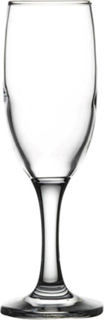 Фужер для шампанского Pasabahce Bistro , цвет: прозрачный, 180 мл набор фужеров для шампанского pasabahce bistro цвет прозрачный 275 мл 6 шт