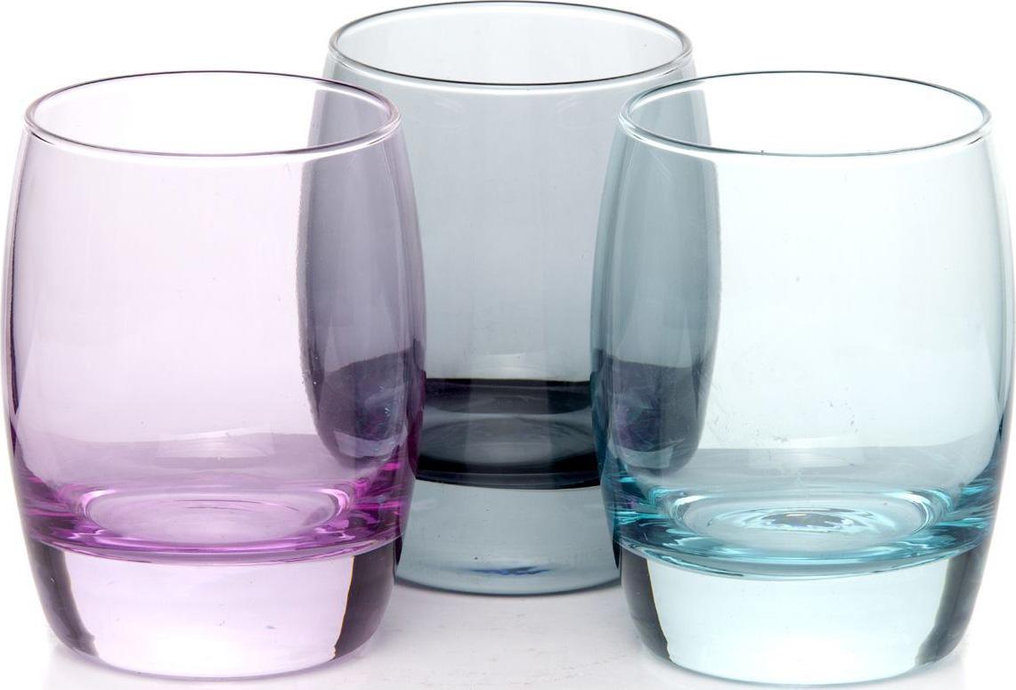 """Набор стаканов Pasabahce """"Enjoy Loft """", цвет: голубой, 330 мл, 3 шт"""