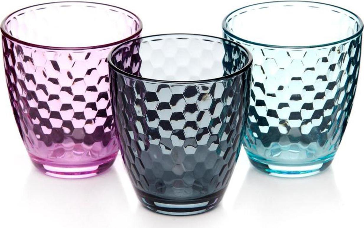 Набор стаканов Pasabahce Enjoy Loft, цвет: розовый, 280 мл, 3 шт цена 2017