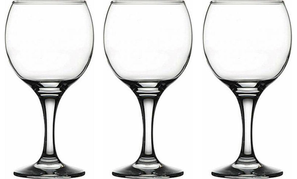 Набор фужеров Pasabahce Bistro , цвет: прозрачный, 275 мл, 3 шт набор фужеров для шампанского pasabahce bistro цвет прозрачный 275 мл 6 шт