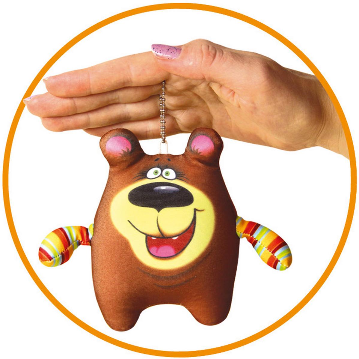 Игрушка антистресс Штучки, к которым тянутся ручки брелок Медведь коричневый игрушка антистресс штучки к которым тянутся ручки лиса открытка в ассортименте 18асо03ив