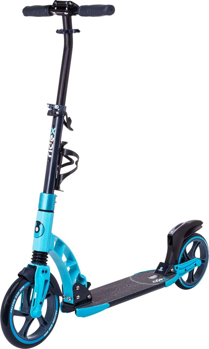 Самокат Ridex Falcon, 2-х колесный, колеса 230/200 мм, цвет: синий крючок двухрожковый nicolazzi classica 1481gb