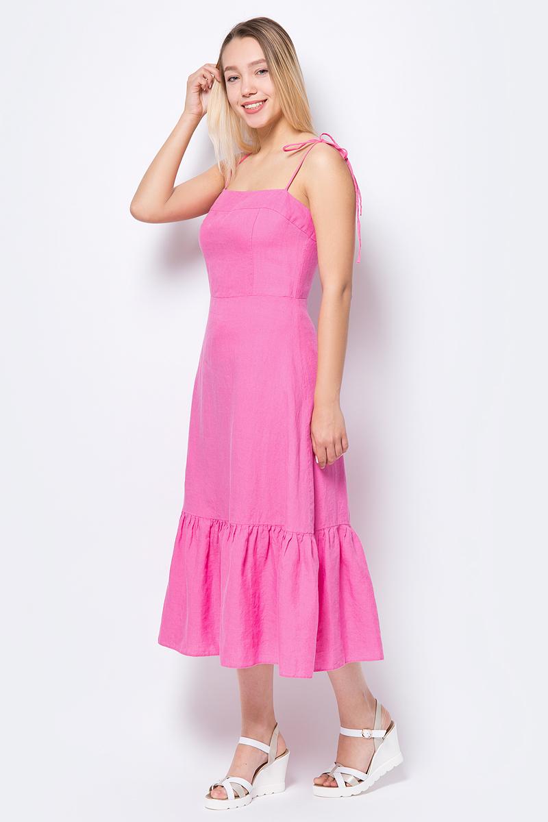 Платье adL шерстяное платье на тонких бретелях