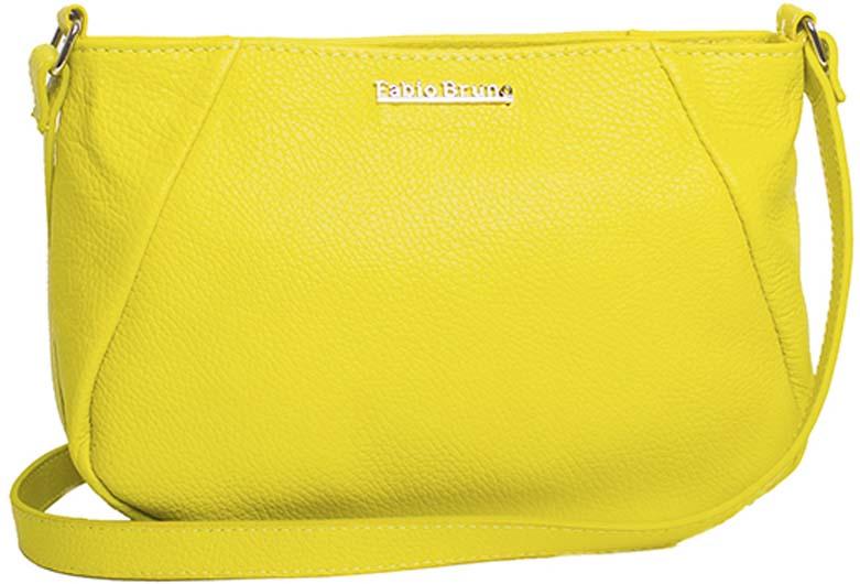 a506b9dc0db4 Небольшая женская сумочка через плечо Fabio Bruno из натуральной кожи -  дизайн простой, что делает ее универсальным аксессуаром и дает безграничные  ...
