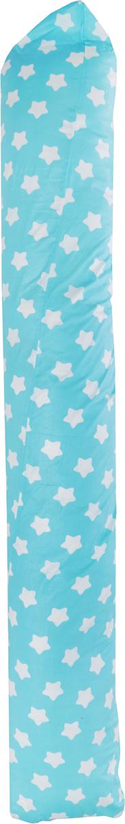 подушки для беременных Подушка для кормящих и беременных Bio-Textiles Валик, с наволочкой, цвет: голубой