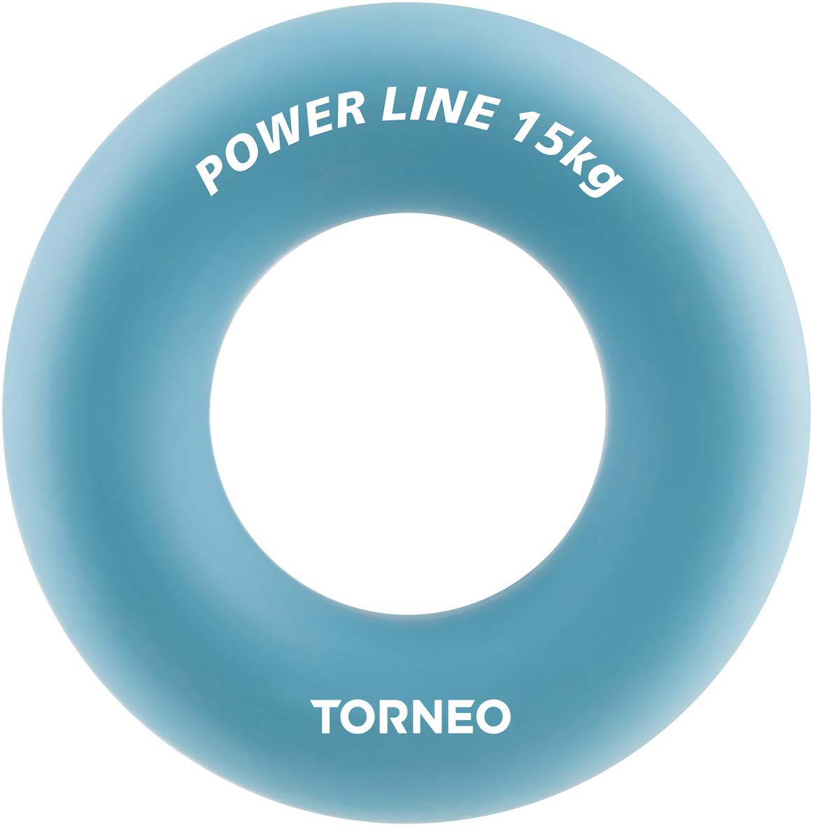 Эспандер кистевой Torneo, диаметр 8,8 см, сопротивление 15 кг, цвет: голубой