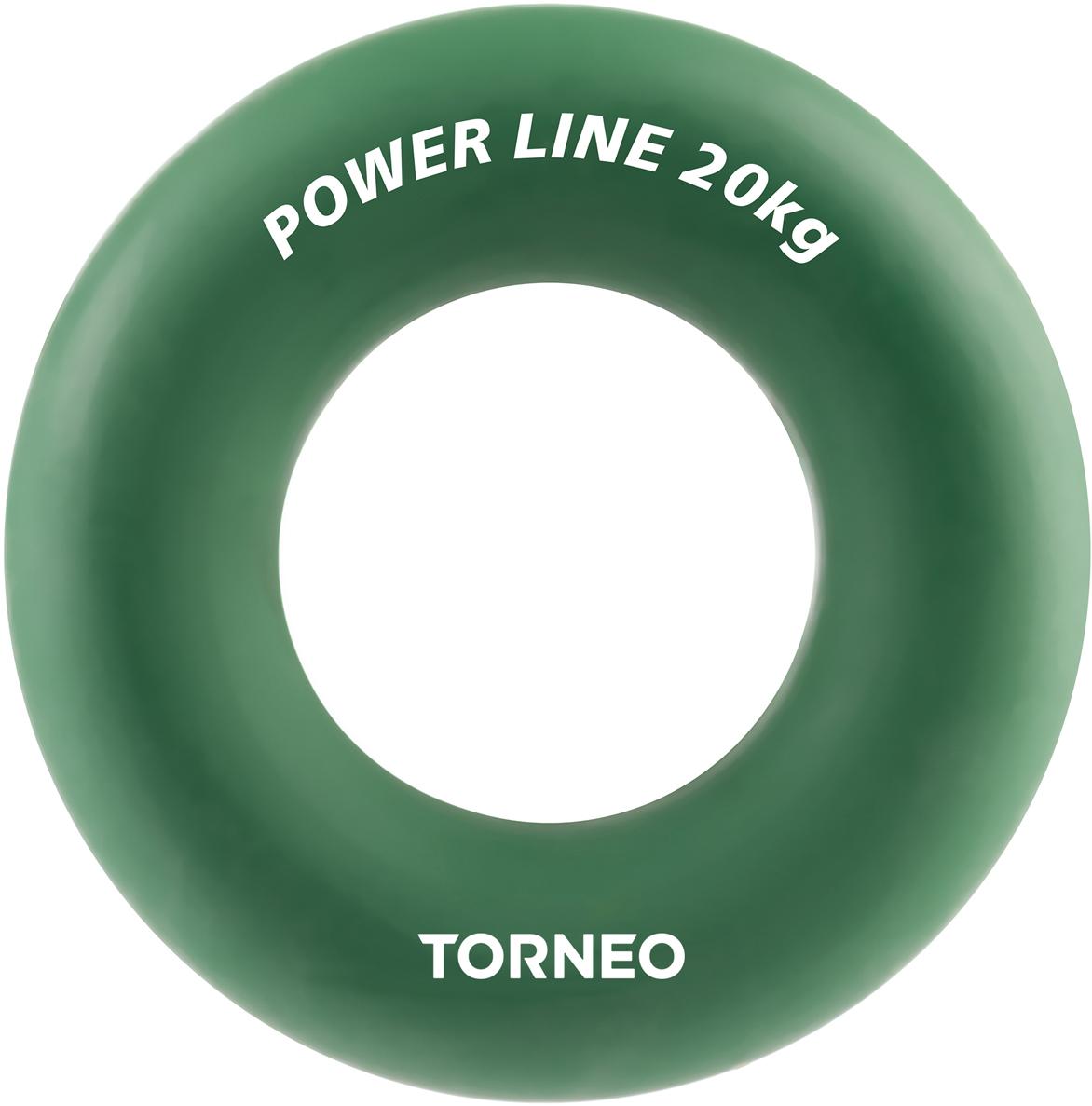 Эспандер кистевой Torneo, диаметр 8,8 см, сопротивление 20 кг, цвет: зеленый