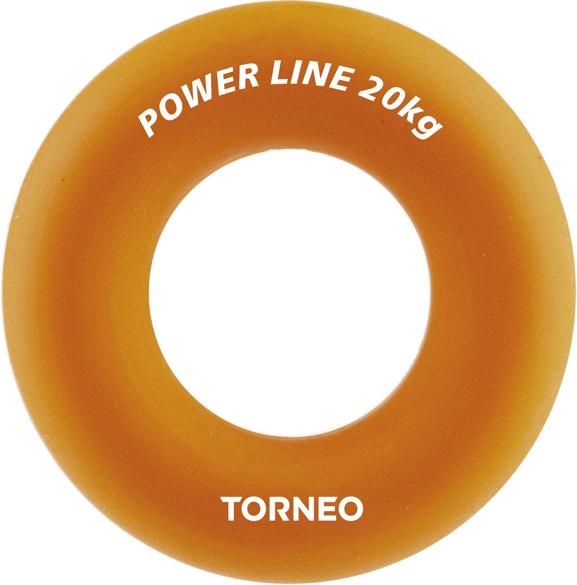 Эспандер кистевой Torneo, диаметр 8,8 см, сопротивление 20 кг, цвет: оранжевый блин хромированный с резиновой вставкой 30 5 мм 20 кг torneo 1022 200x