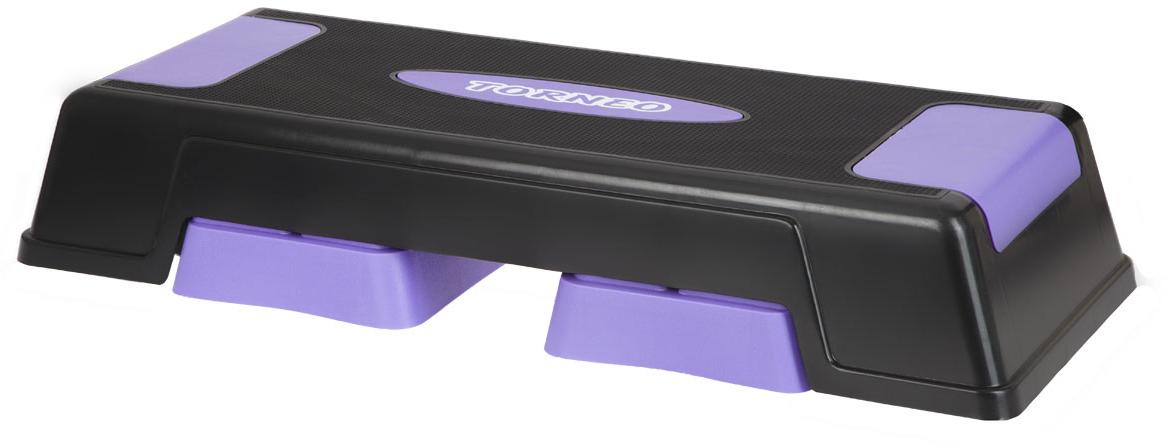 Степ-платформа Torneo Step Board, цвет: серый, сиреневый, 28 х 12 х 70 см цена