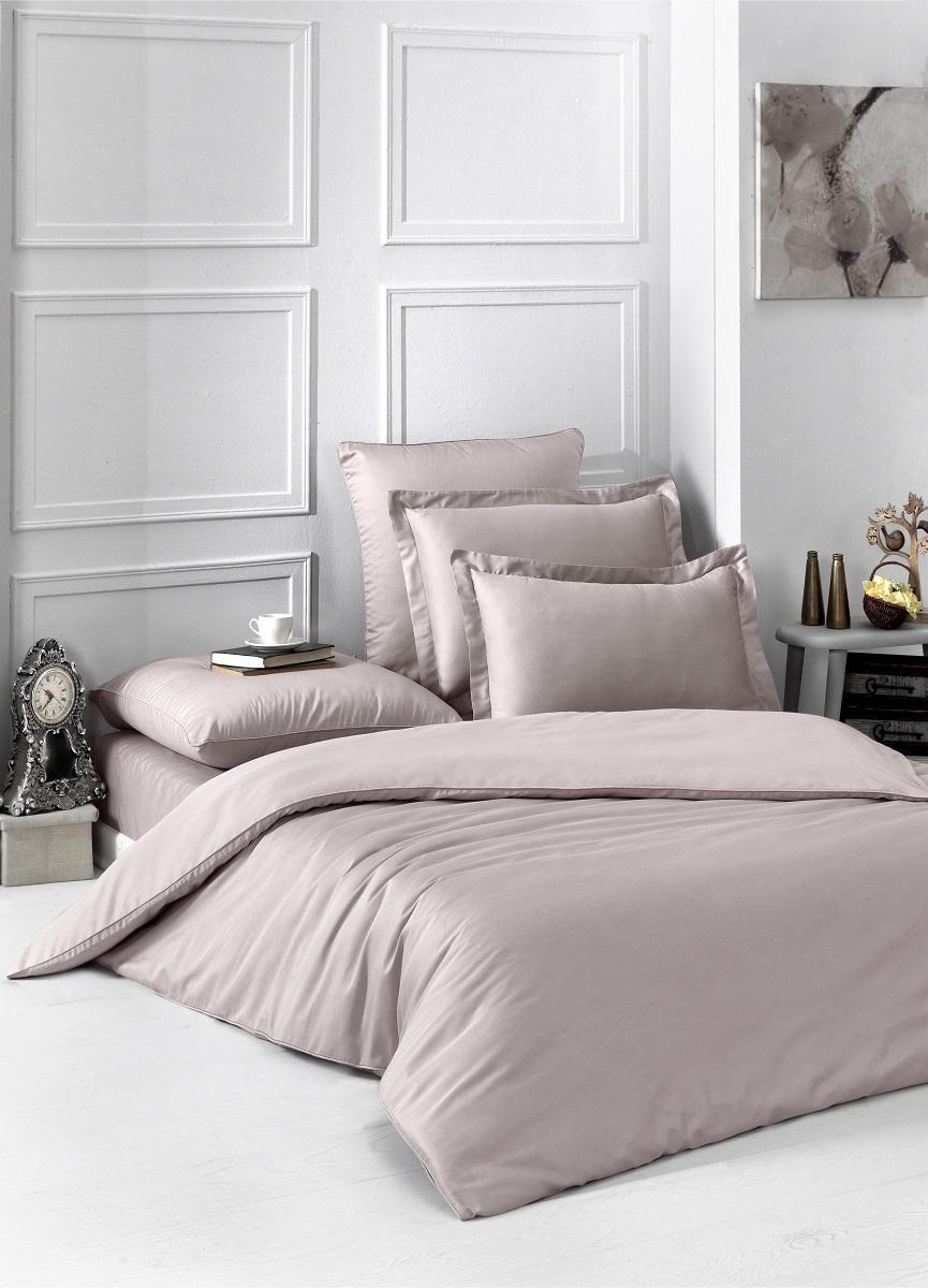 """Комплект белья """"Karna"""", 1,5-спальный, наволочки 50x70, 70x70, цвет: капучино. 2985"""