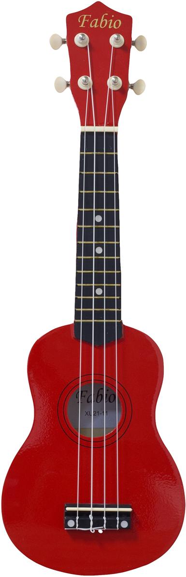 Fabio XU21-11, Red укулеле цена