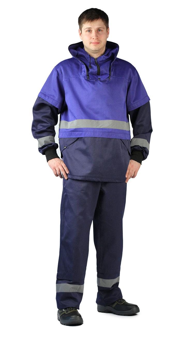Костюм противоэнцефалитный мужской Ursus: куртка, брюки, цвет: темно-синий, васильковый. КОС256-002. Размер 56/58-182/188КОС256-002Материал ткань верха: смесовая (65% полиэфир, 35% хлопок), плотность 210 г/м2, водоотталкивающий Костюм состоит из куртки и брюк Куртка - капюшон регулируется по объёму (на затылочной части и по овалу лица) - съемная противомоскитная сетки на молнию убирается в карман - складки-ловушки по линии талии и рукавах - рукава с СОП 50 мм, и трикотажными напульсниками - карманы-кенгуру с клапаном на кнопке - по линии таллии СОП 50 мм. - низ куртки на эластичной резинке с фиксатором Брюки - прямые - пояс на резинке со шлёвками - боковые карманы - складки-ловушки и свето-отражающей полосы (СОП), шириной 50 мм Рекомендуем!