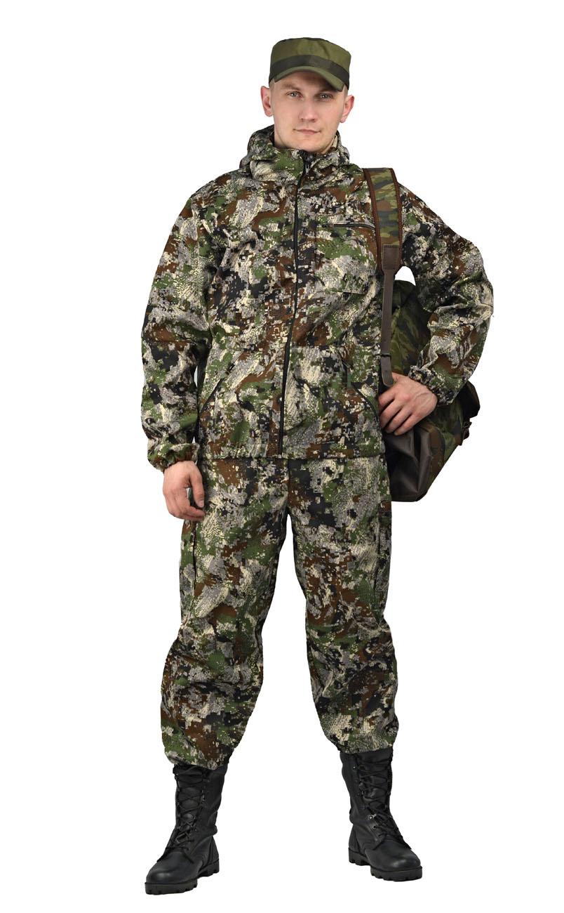Костюм камуфляжный мужской Ursus Турист 1: куртка, брюки, цвет: зеленый. КОС286-К66. Размер 48/50-182/188КОС286-К66qazМатериал основной: смесовая ткань, плотность 210 г/м2 ВО Камуфлированный унверсальный летний костюм для охоты, рыбалки и активного отдыха . Состоит из куртки с капюшоном и брюк. Куртка: - Регулируемый капюшон. - Центральная застежка молния. - Боковые и нагрудный накладные карманы на молнии. - Низ куртки и манжеты на резинке. Брюки: - Два врезных кармана и два накладных кармана на молнии. - Пояс и низ брюк на резинке.