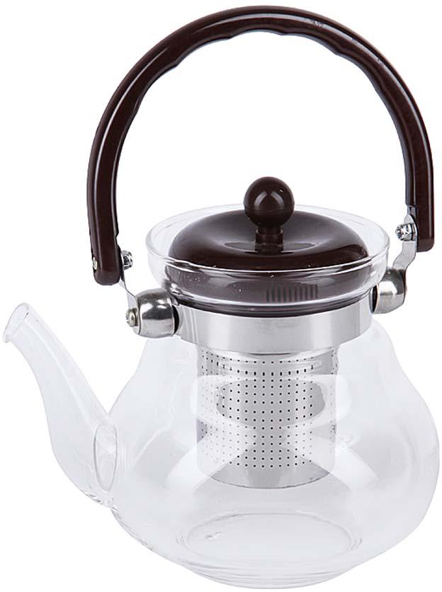 Чайник заварочный Rosenberg, цвет: коричневый, прозрачный, 800 мл. RGL-250024 графин rosenberg rgl 065005
