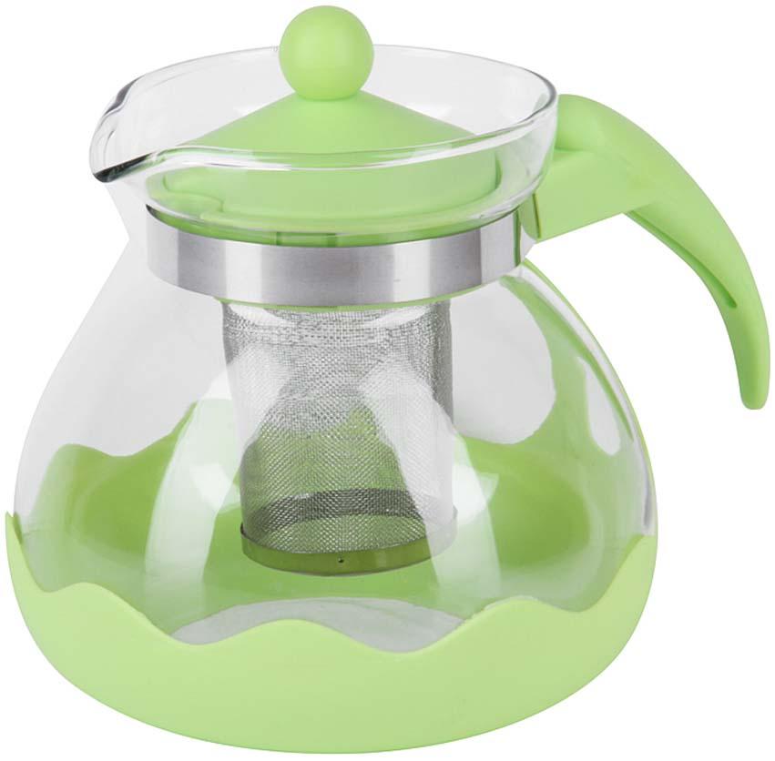 Чайник заварочный Rosenberg, цвет: зеленый, 1,5 л. RPG-250081 чайник leben 291 003