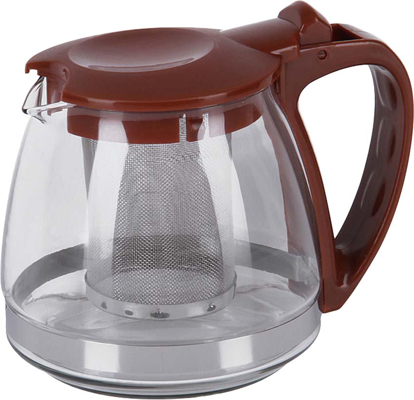 Чайник заварочный Rosenberg, цвет: коричневый, 700 мл. RPG-25007877.858@27030Чайник заварочный Rosenberg идеально подойдет как для ежедневного использования, так и для сервировки праздничного стола. Этот чайник станет настоящим открытием для истинных поклонников чайных церемоний.Чайник имеет съемный фильтр из нержавеющей стали. Корпус заварочного чайника выполнен из качественного боросиликатного стекла и пластика, что делает его удивительно износостойким и легким в уходе. Кроме этого можно выделить ещё несколько достоинств: - Устойчив к высоким температурам и различным химическим веществам. Выдерживает температуру от -15 C до 148 C. Можно использовать даже для охлаждения в холодильнике. - Не вступает в реакцию с пищей, не выделяет вредных веществ при нагреве. - Прекрасно сохраняет температуру, поэтому напиток будет оставаться теплым долгое время. - Простой и легкий уход.