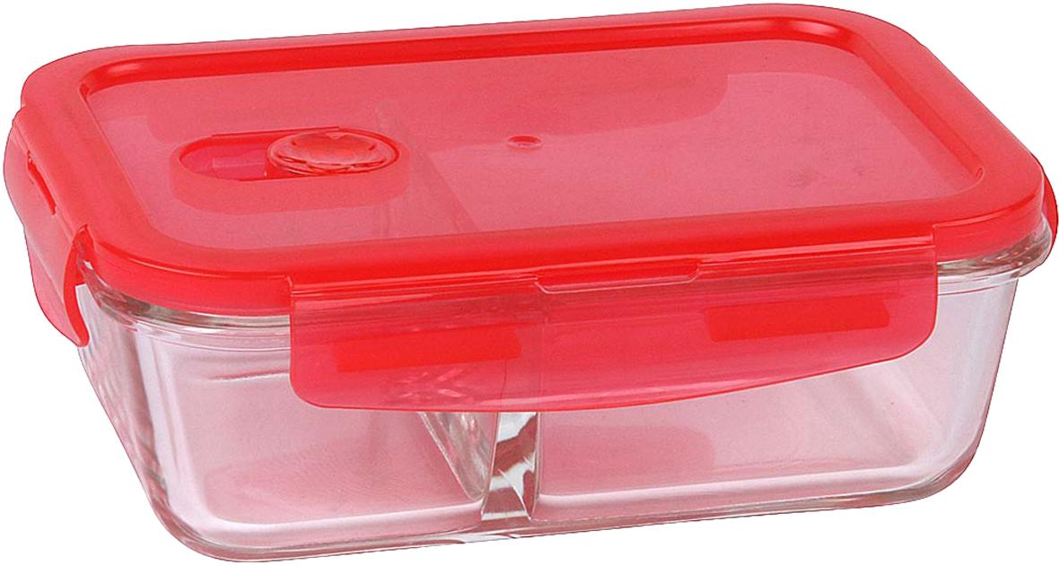 Контейнер пищевой Rosenberg, цвет: красный, 800 мл контейнер пищевой elff decor цвет зеленый 800 мл