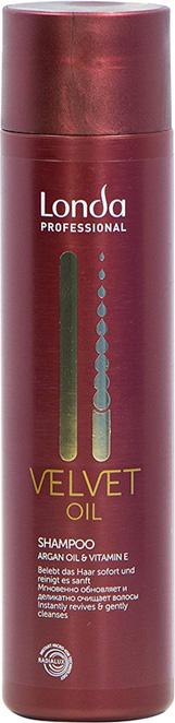 Шампунь Londa Professional Velvet Oil с аргановым маслом,250 мл londa velvet oil масло для волос вельвет 100 мл