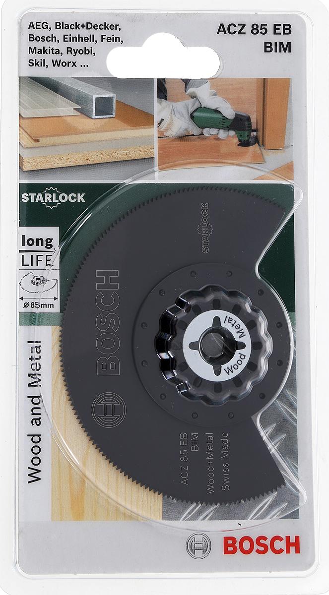 Диск пильный Bosch Bim по дереву и металлу, для PMF 180, диаметр 85 мм набор оснастки по дереву bosch для pmf 4 шт