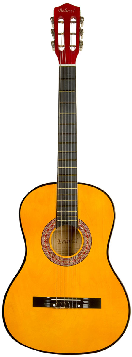 Belucci BC3805, Yellow классическая гитара