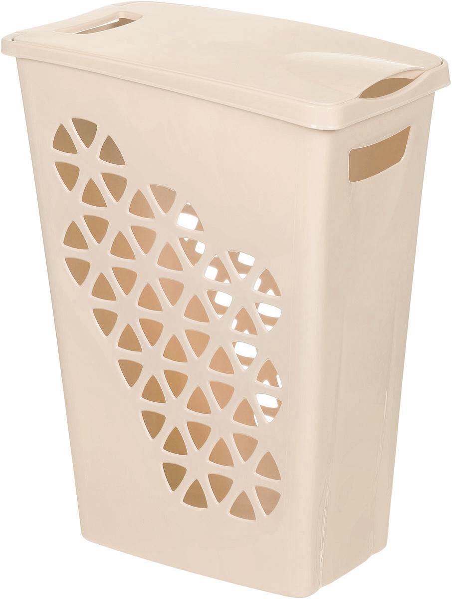 Корзина для белья Idea Венеция, цвет: бежевый, 43 х 26 х 55 см корзина для белья idea венеция узкая цвет белый